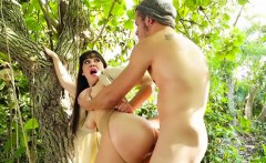 Hot Chick Meko Lilly Enjoys Big Cock In The Woods