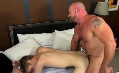 Horny daddy Casey Williams gives Anthony a wake up fucking