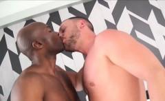 Hot blond german hunk getting ass rammed by big black dick