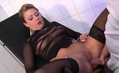 Hot German blonde with a big booty gets drilled hard by her