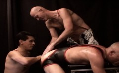 Gay threeway fist ass