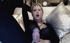 Hottest Big Tits Blonde Plays Her Huge Cock