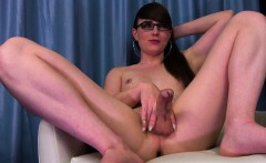Spex tranny masturbating and playing with ass
