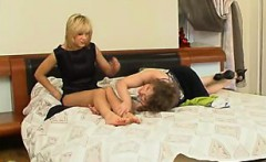 Brunette lesbian pornstars Vika and Natasha