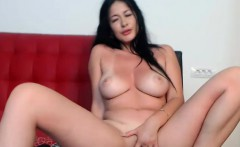 Pretty Milf Shows It All And Masturbates On Cam