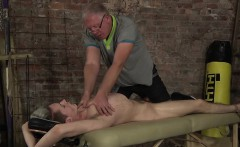 Old ugly fruit invites his new fuck buddy in the sex dungeon