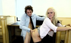 Big titty blonde Alena has a coworker she had to fuck a bit