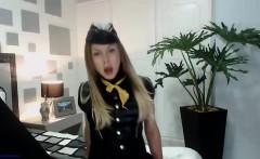 Nurse uniform wearing Sandra pussy masturbation at gyno