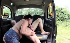 Big tits Thai Miss Pinay fucked in taxi