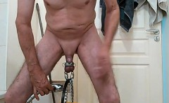 Solo masturbation and gay climax