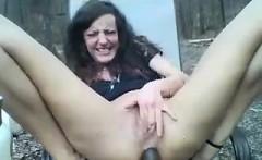 Solo summer outdoor masturbation