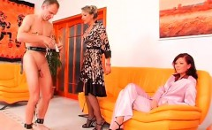 Horny fetish act with dude getting dominated by honey
