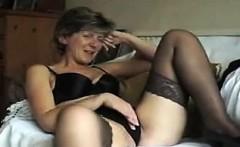 Mature british stockings in lingerie