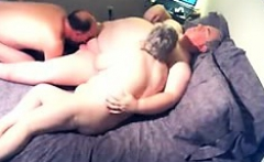 Granny mature is giving a blowjob