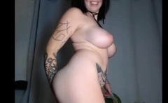 Luxury Tattooed Busty Trying To Play On Cam