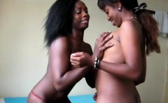 Black lesbians Anula and Yehibe get really naughty in the