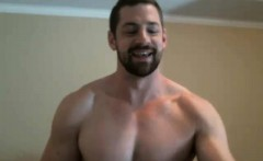 Gay hunks love to jerk off together