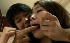 Japanese milf reina hardcore threesome