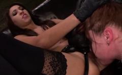 Kinky ladies fuck with huge dildo