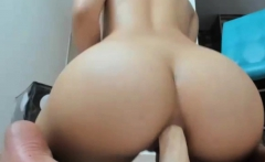 Pretty Hot Big Tits Cammodel Dildoing Her Nasty Asshole