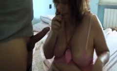 Spanking ass before a facial