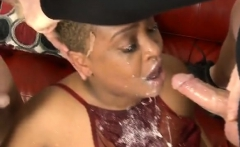 Black Ghetto Whore Getting Slapped Around And Face Fucked