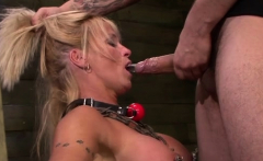 bitch gets her holes permeated deep by a rough chap