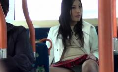 Asian Babe Shows Panties