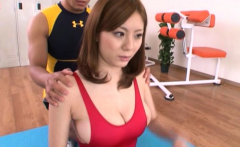 Busty Japanese boobs licking