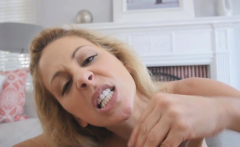 Stepmom Deepthroated Cock And Sucked Out Stepsons Load