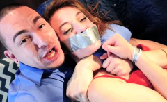 Hot girl tied and gagged roughed up doubled Twisted And Take