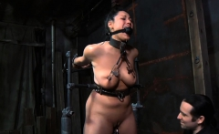 Gagged hotty is being punished for being such a whore