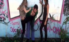 Girls kneeign guys