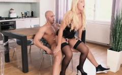 HITZEFREI Curvy German blonde fucked hard in lingerie