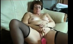 Fat Granny on webcam skype show pussy