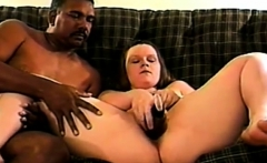 Naughty gal with perfect big boobs is riding on a big dick