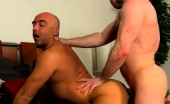 Group of hairy gay men in shower Colleague Butt Banging!