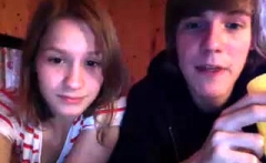 homemade amateur teen webcam couple having fun on webcam