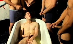 Male cock gay porn first time The studs love it, peeing on h