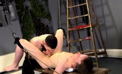 Cops in bondage and shaved gay That's what Brett is faced wi