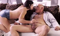 OLD4K. Fat old man nicely assfucks Latina hottie in...