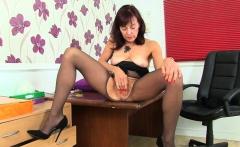 British gilf Zadi dildos her 65-year-old fanny