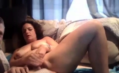 Fat brunette bbw goes down on his cock