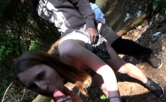 german natural tits teen in outdoor 3some MMF in public park