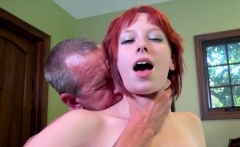Redhead Zoey Nixon pussy drilled by mature guy