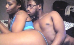 Ebony beauty takes big black cock in her ass