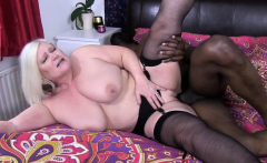 Granny Fucks With Big Hard Black Cock