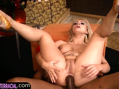 Busty Blonde Ass Fucked By Bad Black Santa