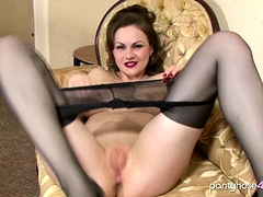 Super Sexy Lady Enjoying Masturbating In Pantyhose