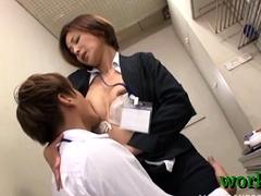 Japanese Office Slut Behaves Like A Slut And Gets Drilled